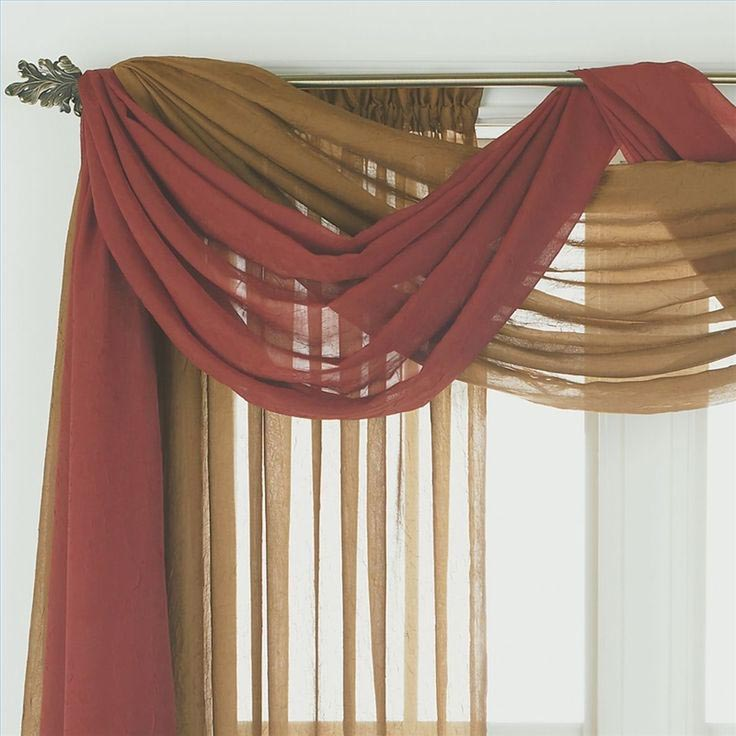 Sheer Window Scarf Valance