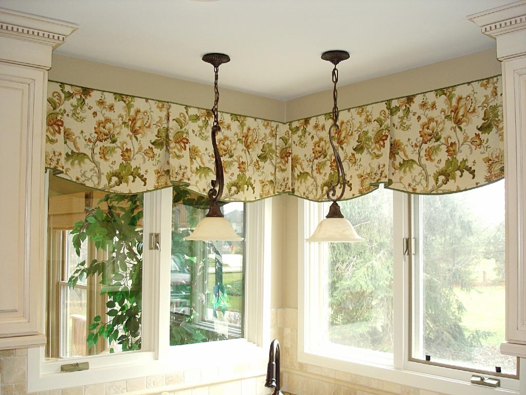 Swag curtain valance ideas window treatments design ideas for Designs of kitchen curtains