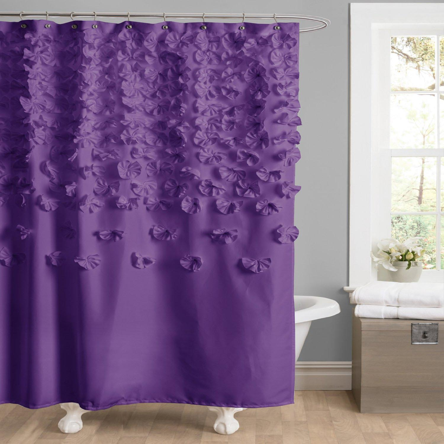 Swag Shower Curtain Attached Valance Window Treatments