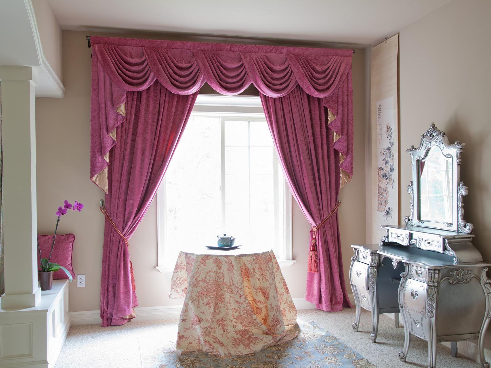 Valance And Swag Curtains | Window Treatments Design Ideas