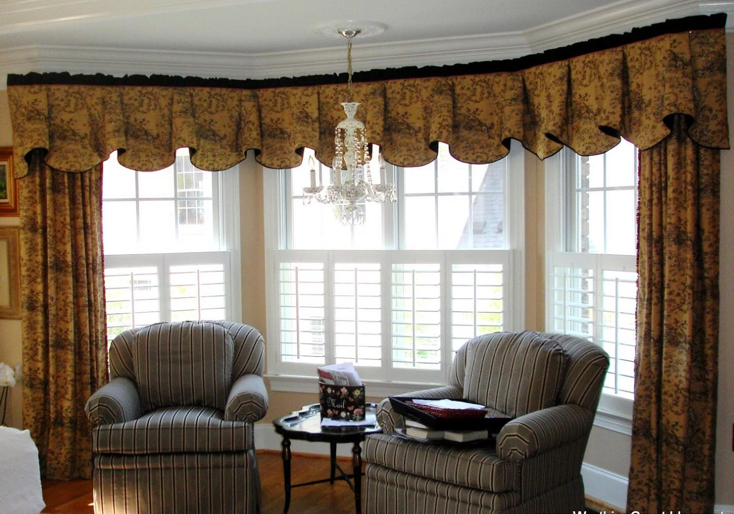 Valance curtains for living room window treatments for Living room valances