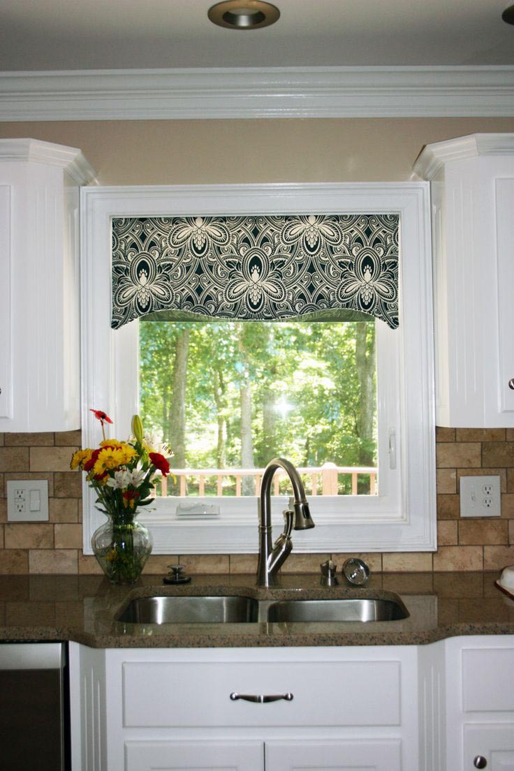 Valances for kitchen windows window treatments design ideas Bathroom valances for windows