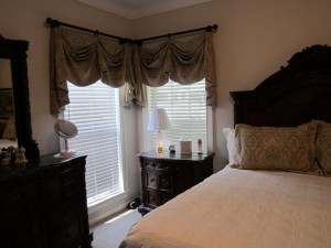 White Valances for Bedroom