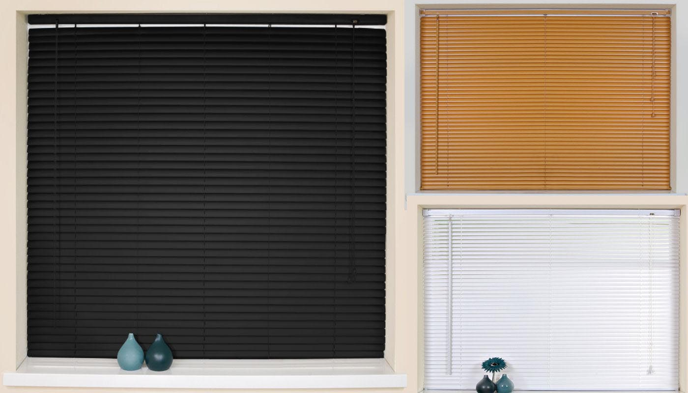 Window Blinds Cordless Wood