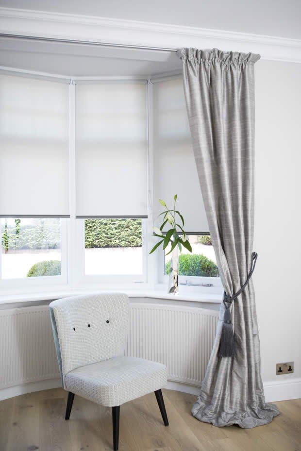 Window blinds for bay windows window treatments design ideas for Blinds for bay window