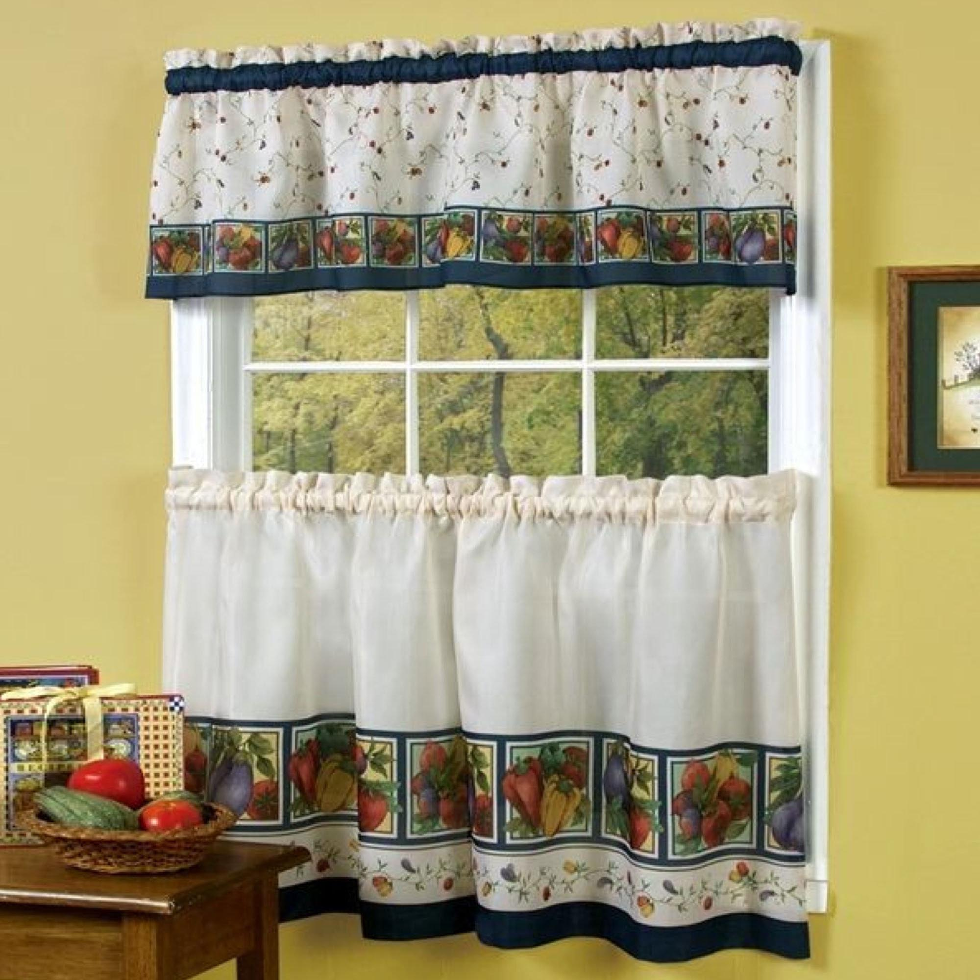 Window valances for kitchen window treatments design ideas for Kitchen window curtains