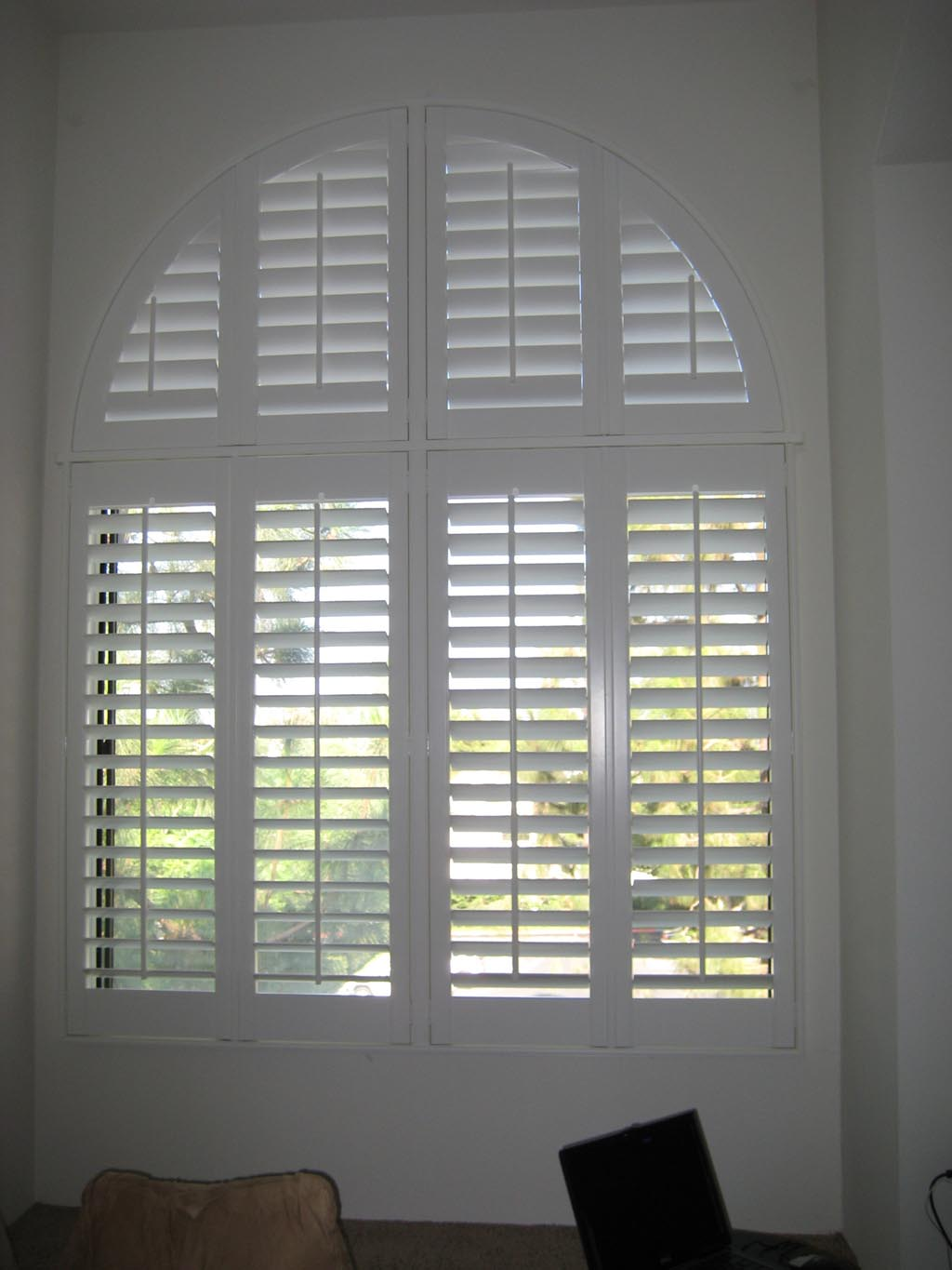 Wood Blinds Arched Windows