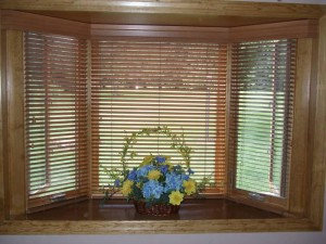 Wood Blinds Bay Window