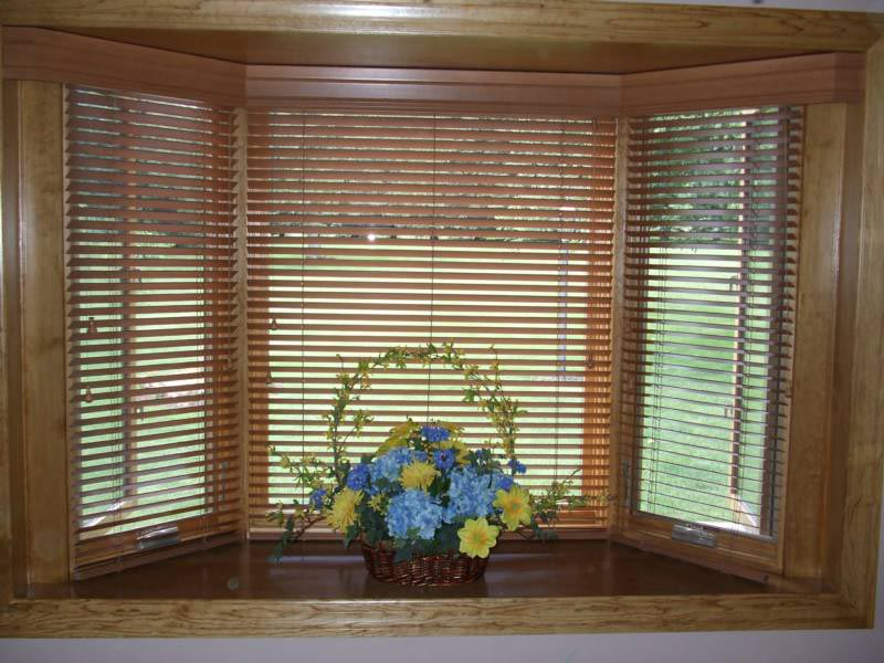 Wood Blinds Bay Window Window Treatments Design Ideas