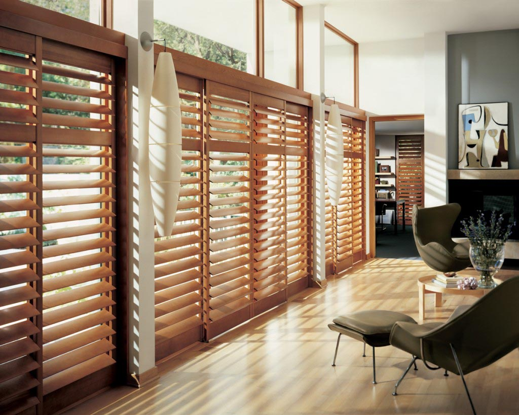 Wood Blinds for Large Windows