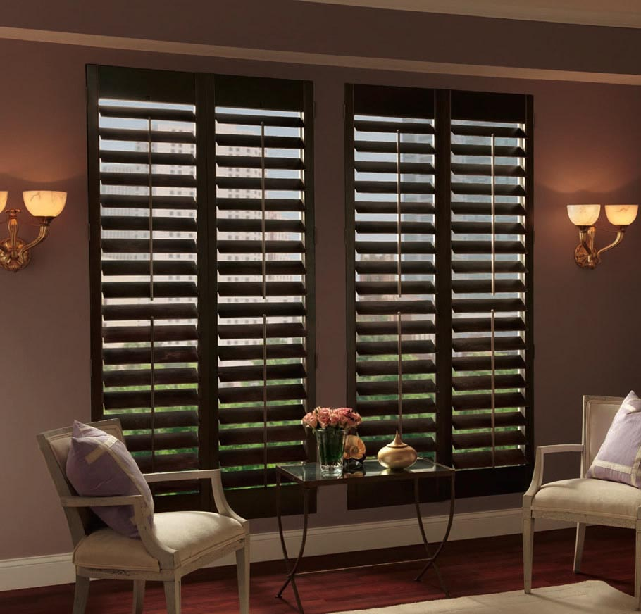 Natural Beauty Of Wood Window Blinds Treatments