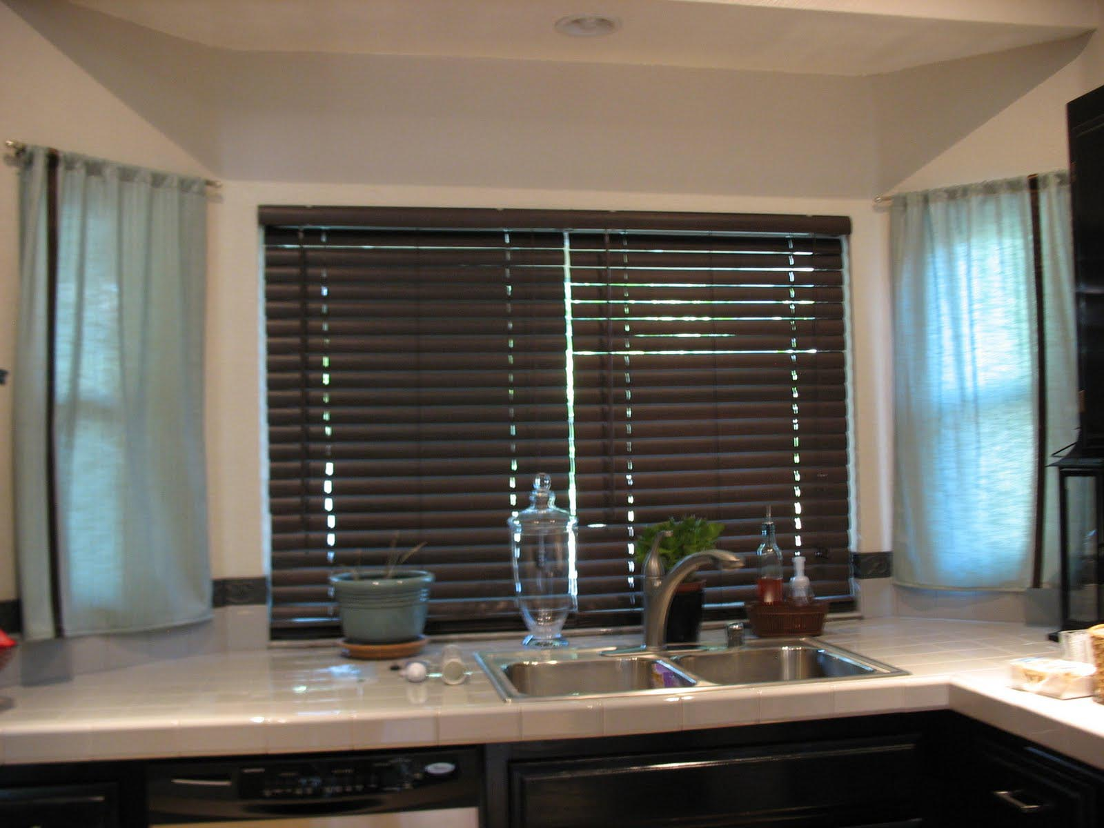 Wooden Blinds For Kitchen Windows Window Treatments Design Ideas
