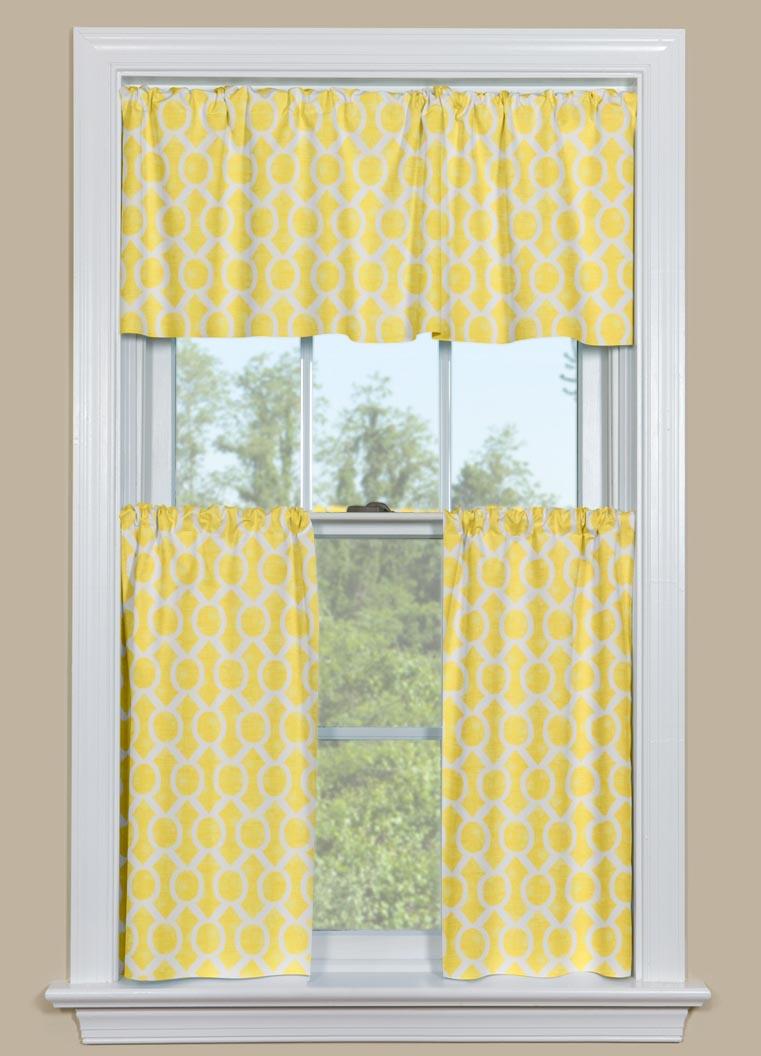 Yellow Kitchen Curtains Valances Window Treatments