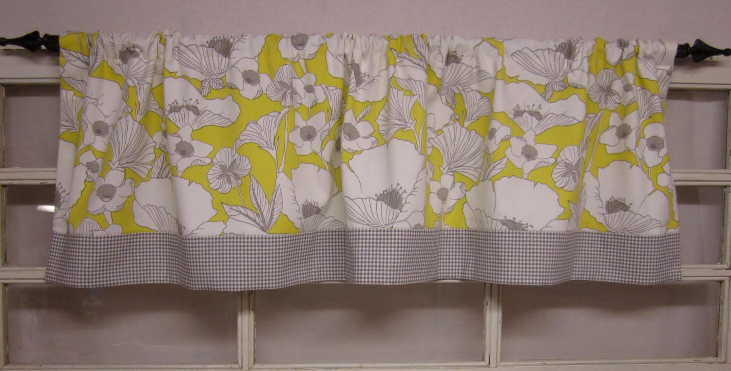 Yellow Valances for Kitchen