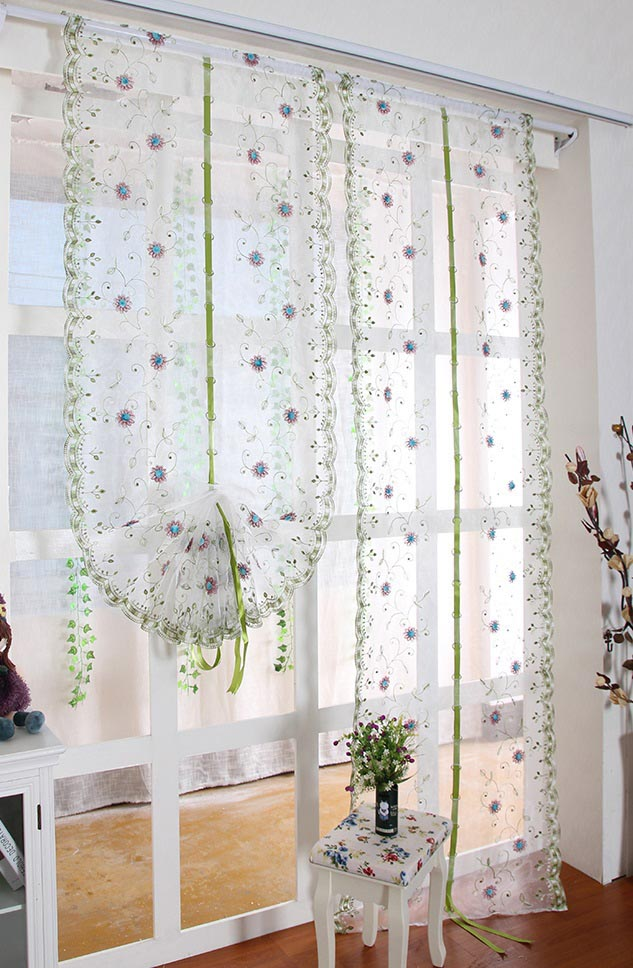 Balloon roman shade curtains window treatments design ideas for Balloon curtains for living room
