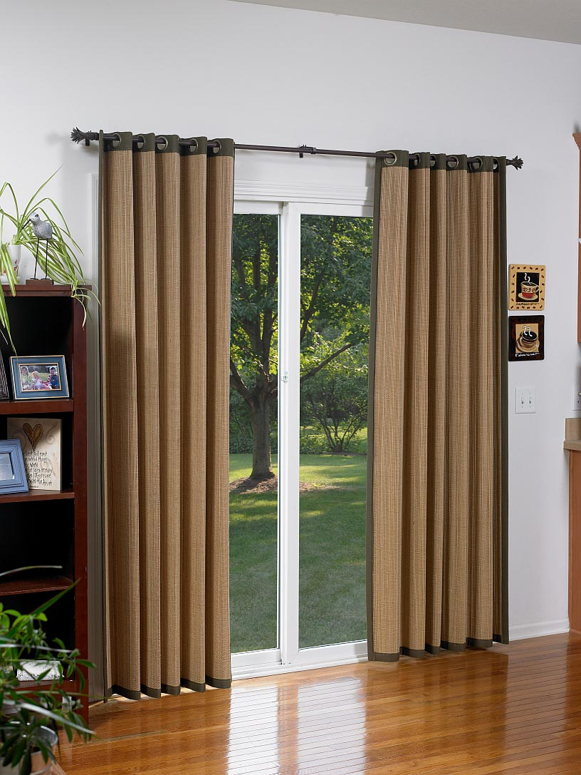 Bamboo Shades For Sliding Glass Doors Window Treatments