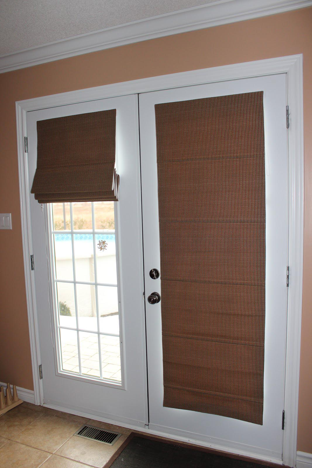Door Window Shades : Blackout shades for french doors window treatments
