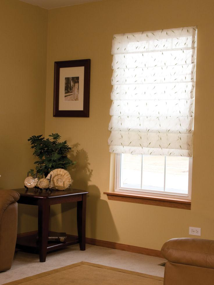 Custom Sheer Roman Shades