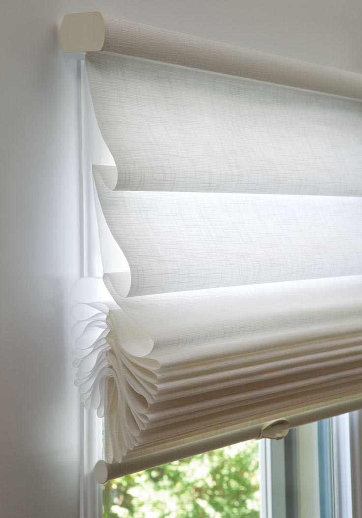 Double Roman Shades Sheer