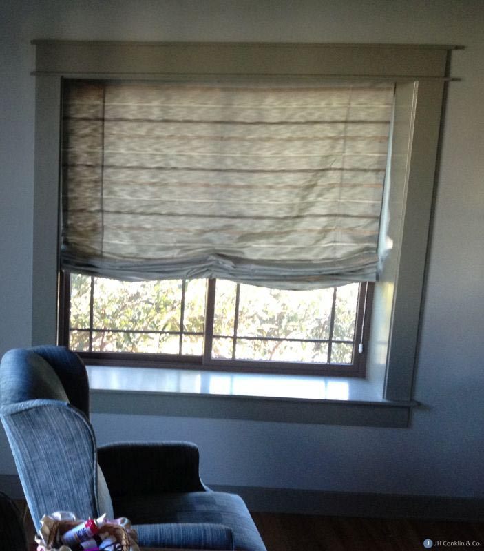 Double Roman Shades with Sheers