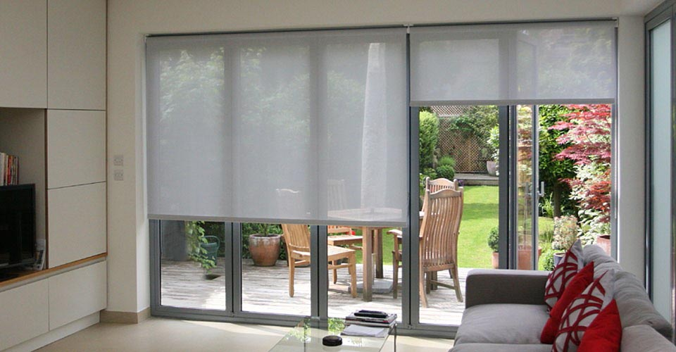 French Door Roller Shades Window Treatments Design Ideas