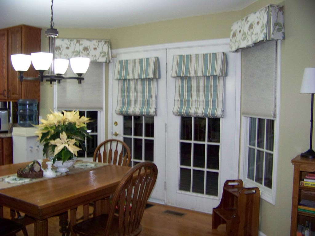 French Door Roman Shades