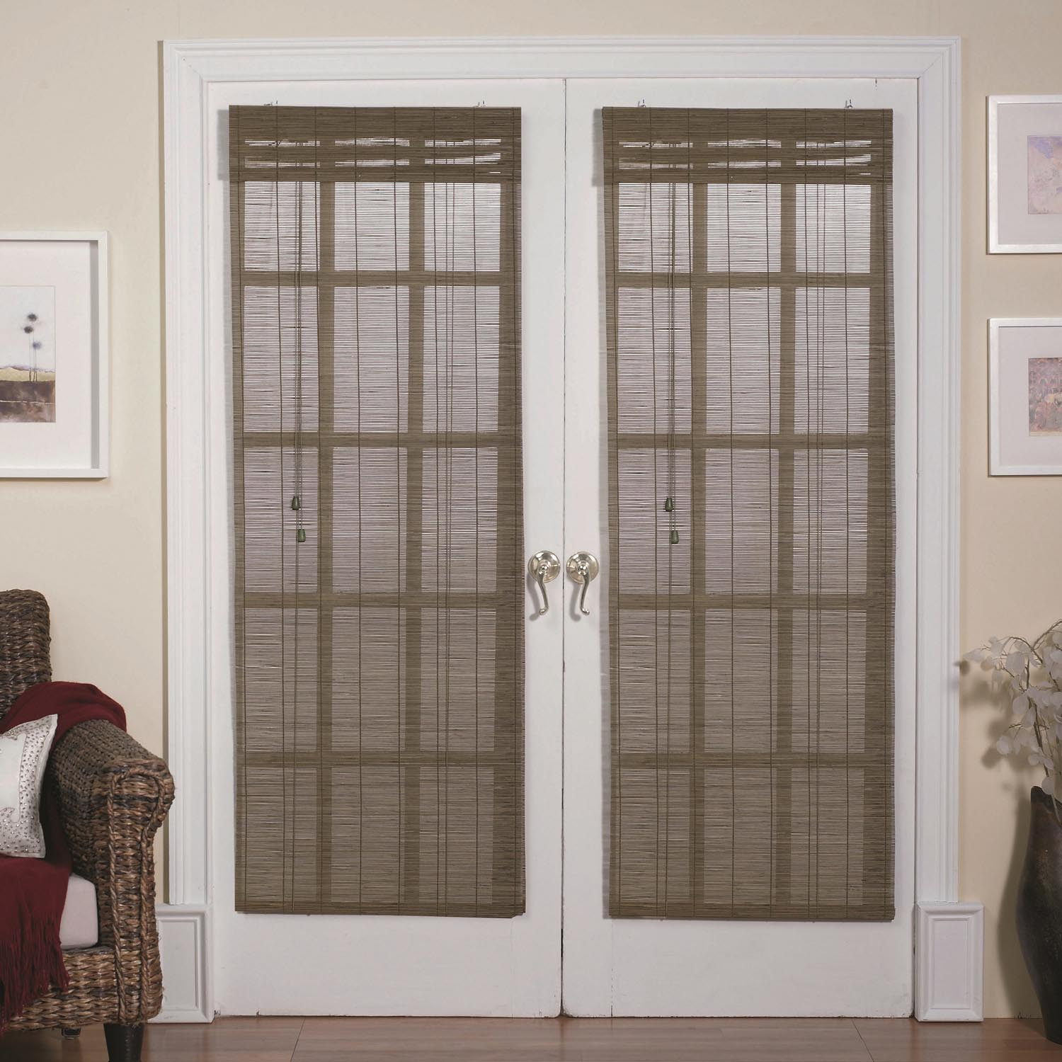 Curtains For French Doors Ideas Part - 43: Magnetic Roman Shades For French Doors