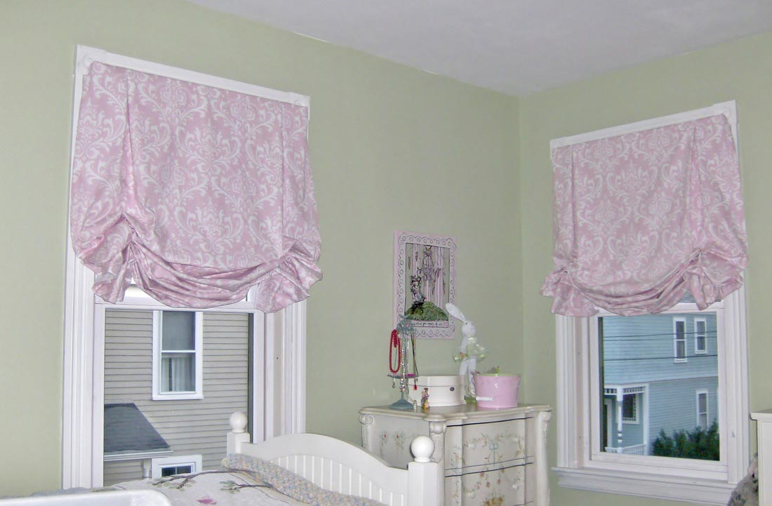 Make balloon shade curtains window treatments design ideas for Balloon curtains for living room