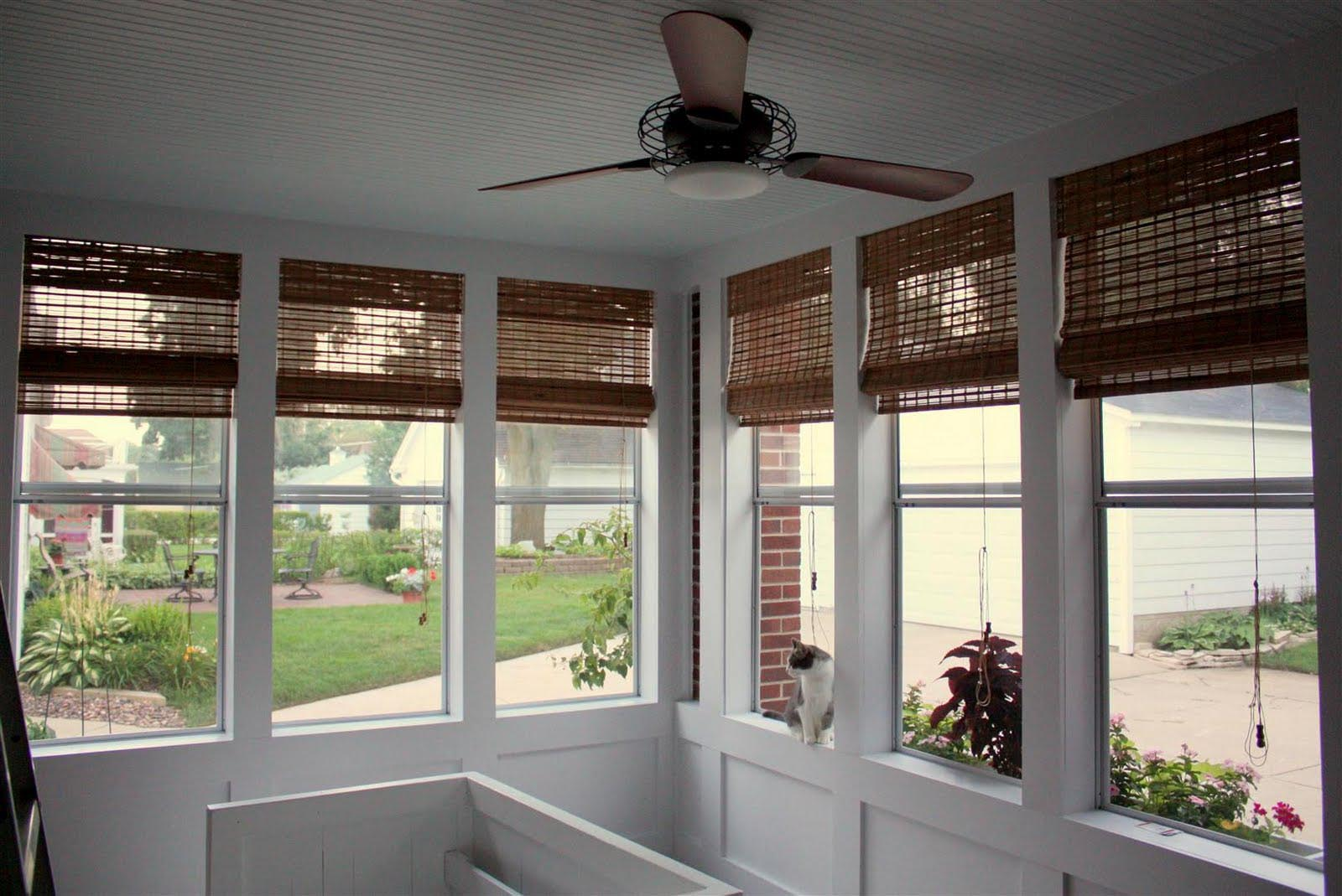 Outdoor Bamboo Shades For Screened Porch Window