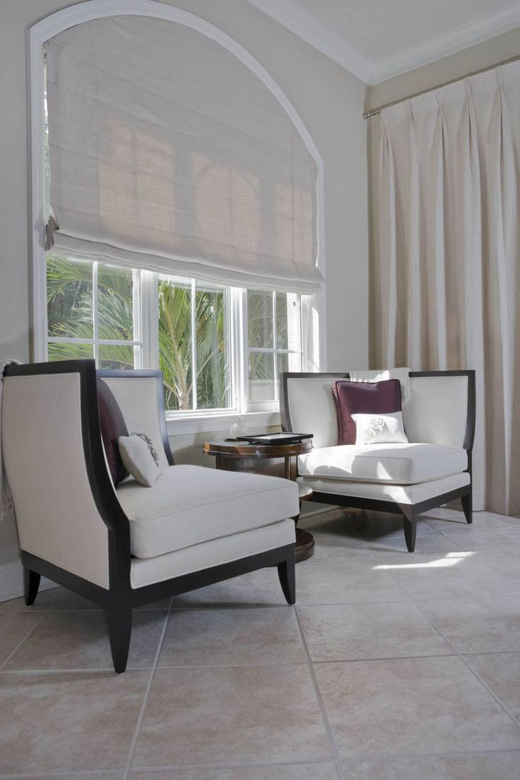 Paper Shades for Arched Windows