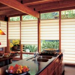 Patio Door Roman Shades