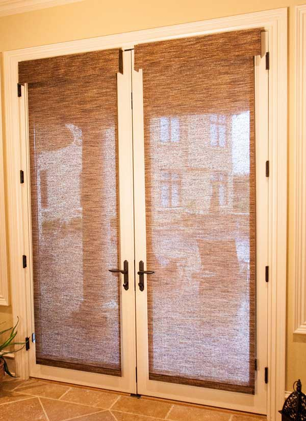Door Window Shades : Roller shades for french doors window treatments design