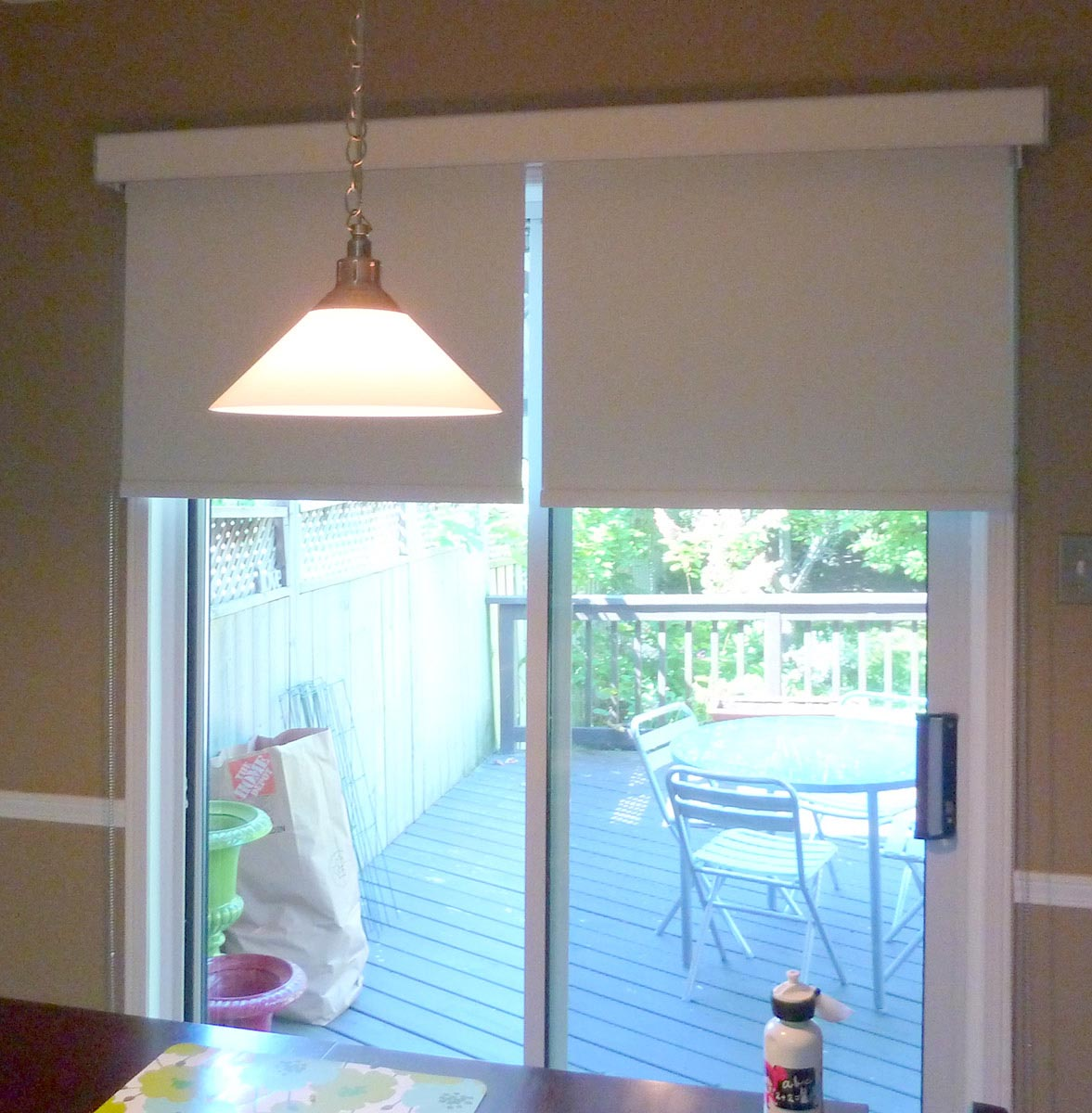 Roller Shades For Patio Doors Window Treatments Design Ideas