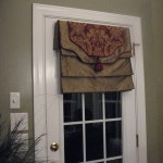 Roman Shade French Door