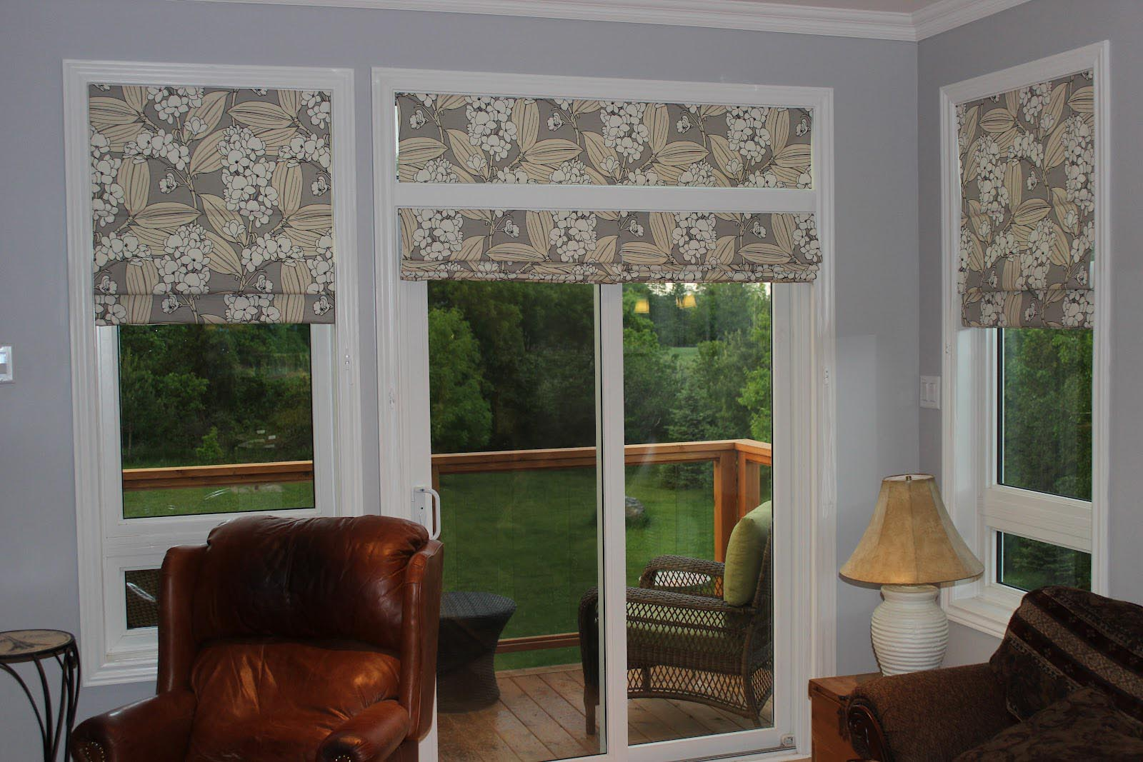 Roman Shades for Patio Doors