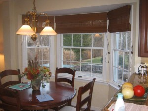 Roman Shades for Sliding Doors