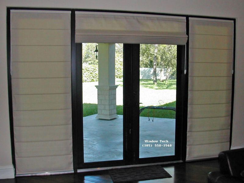 Roman Shades on French Doors . : door shades - Pezcame.Com