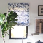 Roman Shades with Sheer Backing