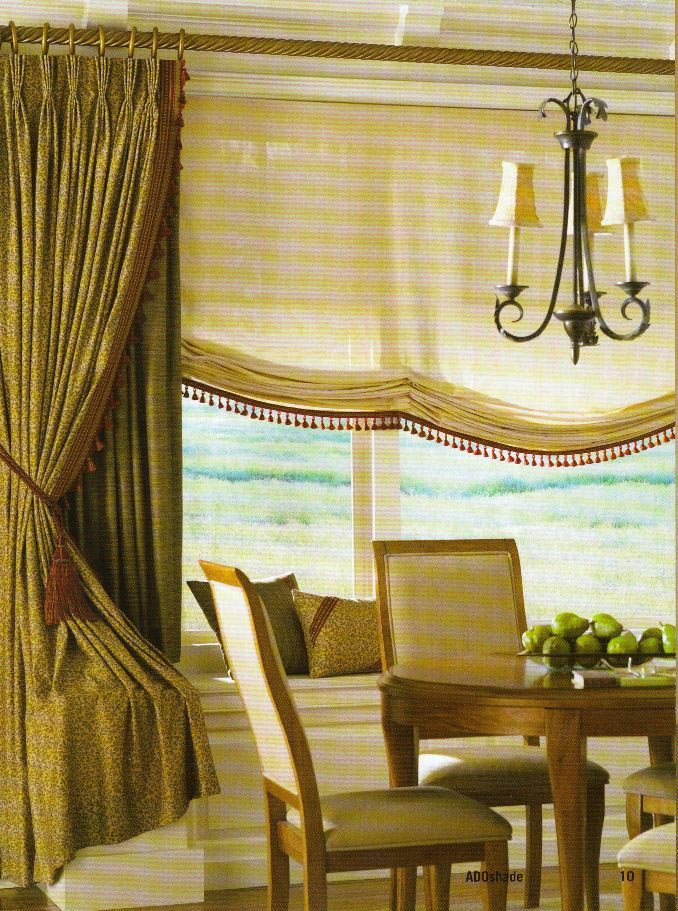 Sheer Balloon Roman Shades