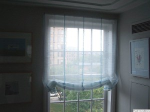 Sheer Fabric Roman Shades