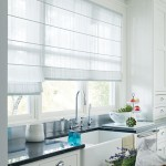 Sheer White Roman Shades