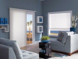 Vertical Cellular Shades for Sliding Glass Door