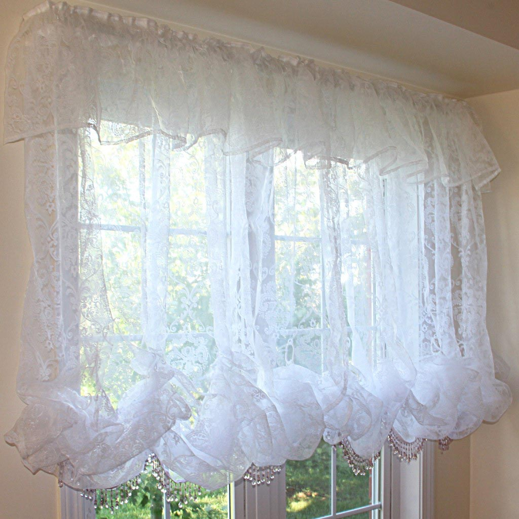 White Balloon Shade Curtains